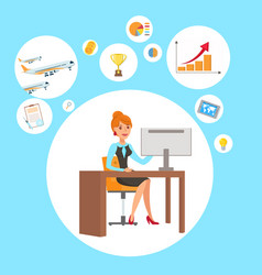 businesswoman personal assistant vector image