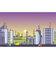 Busy urban cityscape templates with modern vector image