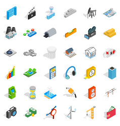 camera icons set isometric style vector image