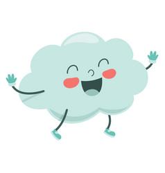 cartoon cloud vector image
