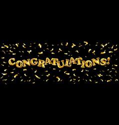 Congratulation gold ballons text decoration party vector