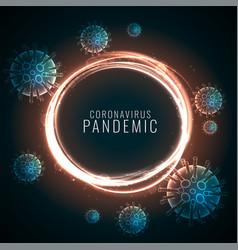 Coronavirus pandemic background with floating vector