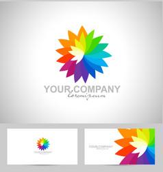 Creative Flower Logo vector image