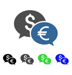 Currency transfer chat flat icon vector