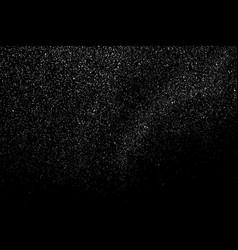 Distressed white grainy texture vector