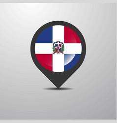 Dominican republic map pin vector