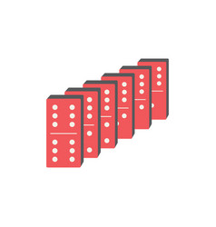 Domino blocks vector
