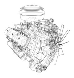 Engine sketch vector