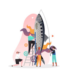 fishing concept for web banner website vector image