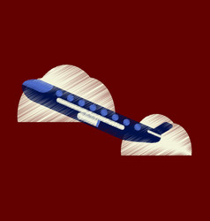flat icon in shading style plane in the sky vector image