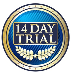 Fourteen Day Trial Emblem vector image