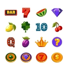 Fruit Machine Icons Collection vector