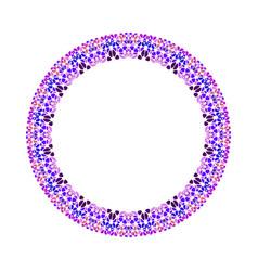 Geometrical mosaic border - circular abstract vector