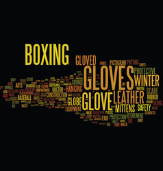 Gloves word cloud concept vector