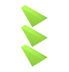 green map arrows icon isometric style vector image