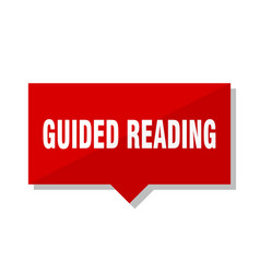 guided reading red tag vector image