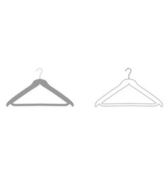 hanger grey set icon vector image