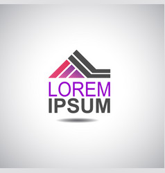 house logo for company image vector image