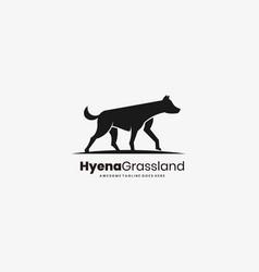 hyena gross land template vector image