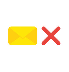 icon concept of closed mail envelope with x mark vector image