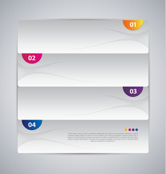 infographic abstract banner template vector image
