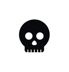 Isolated head icon skeleton element can be vector