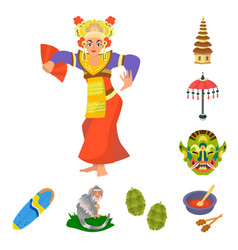 Isolated object bali and indonesia symbol vector