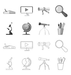 isolated object education and learning sign vector image
