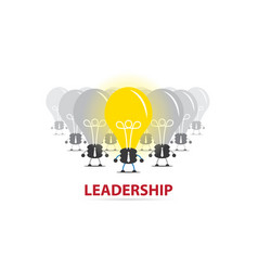leader with light bulb and bulb team vector image