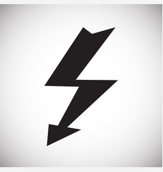 lightning icon on white background for graphic and vector image