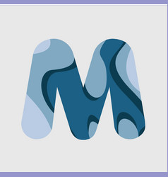 M water font template design vector