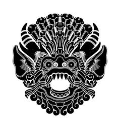 Mythological ethnic gods head vector
