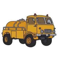 Old small tank truck vector image