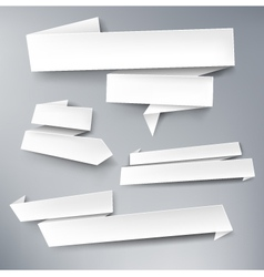 Paper banners vector