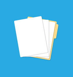 paper lists folder vector image