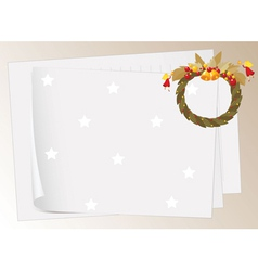 paper sheets and bells vector image