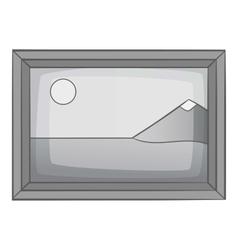 Picture icon gray monochrome style vector