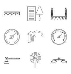 Refueling icons set outline style vector
