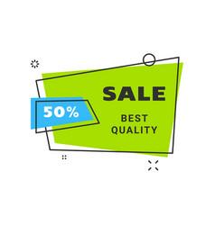 Sale banner design template flat line geometric vector