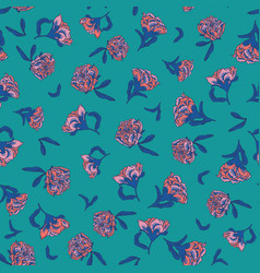 Seamless small scale ditsy floral texture vector