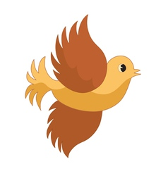 single flying bird vector image