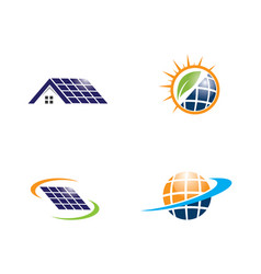 solar logo energy icon vector image