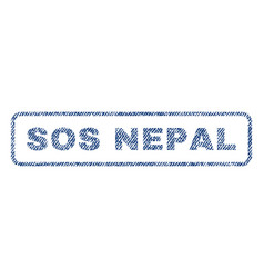 Sos nepal textile stamp vector