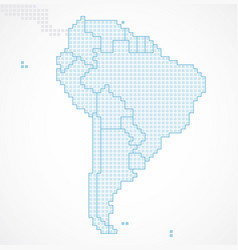 south america continent with separated states vector image