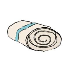 Spa towels bath vector