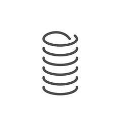 Spring line icon vector