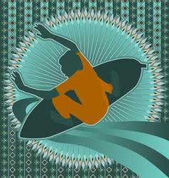 surfer vintage design vector image