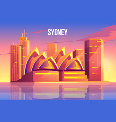 Sydney city skyline australia famous architecture vector