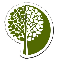 tree emblem 1 isolated on white vector image