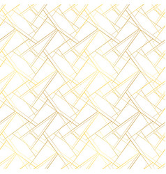 White seamless pattern with golden threads luxury vector